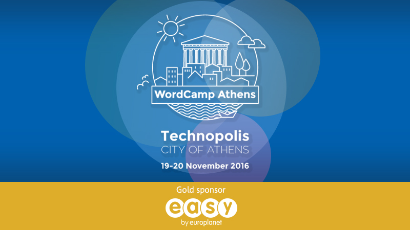 Easy Gold Sponsor at Athens Wordcamp 2016